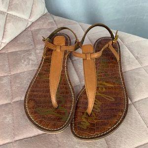 Sam Edelman leather Tan thong sandals size 8